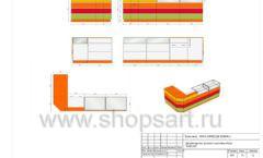 Дизайн проект детского магазина Емеля Южно-Сахалинск торговое оборудование КАРАМЕЛЬ Лист 14