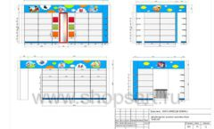 Дизайн проект детского магазина Емеля Южно-Сахалинск торговое оборудование КАРАМЕЛЬ Лист 19