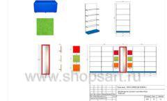 Дизайн проект детского магазина Емеля Южно-Сахалинск торговое оборудование КАРАМЕЛЬ Лист 22