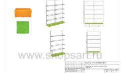Дизайн проект детского магазина Емеля Южно-Сахалинск торговое оборудование КАРАМЕЛЬ Лист 28