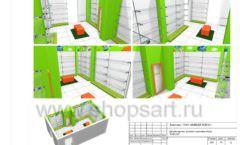 Дизайн проект детского магазина Емеля Южно-Сахалинск торговое оборудование КАРАМЕЛЬ Лист 30