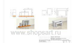 Дизайн проект детского магазина Пешеходик ТРЦ Рига Молл торговое оборудование КАРАМЕЛЬ Лист 13