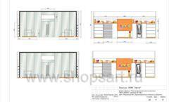 Дизайн проект детского магазина Пешеходик ТРЦ Рига Молл торговое оборудование КАРАМЕЛЬ Лист 16