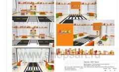 Дизайн проект детского магазина Пешеходик ТРЦ Рига Молл торговое оборудование КАРАМЕЛЬ Лист 18