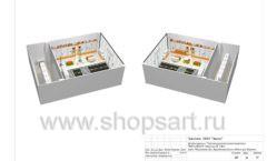 Дизайн проект детского магазина Пешеходик ТРЦ Рига Молл торговое оборудование КАРАМЕЛЬ Лист 20