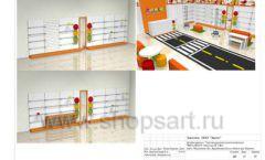 Дизайн проект детского магазина Пешеходик ТРЦ Рига Молл торговое оборудование КАРАМЕЛЬ Лист 21