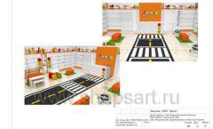 Дизайн проект детского магазина Пешеходик ТРЦ Рига Молл торговое оборудование КАРАМЕЛЬ Лист 22