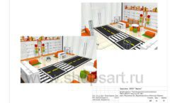 Дизайн проект детского магазина Пешеходик ТРЦ Рига Молл торговое оборудование КАРАМЕЛЬ Лист 23