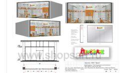 Дизайн проект детского магазина Пешеходик ТРЦ Рига Молл торговое оборудование КАРАМЕЛЬ Лист 24