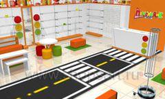 Дизайн интерьера детского магазина Пешеходик коллекция КАРАМЕЛЬ Дизайн 01