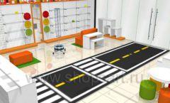 Дизайн интерьера детского магазина Пешеходик коллекция КАРАМЕЛЬ Дизайн 04