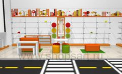Дизайн интерьера детского магазина Пешеходик коллекция КАРАМЕЛЬ Дизайн 07