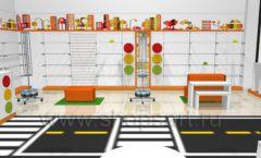 Дизайн интерьера детского магазина Пешеходик коллекция КАРАМЕЛЬ Дизайн 08