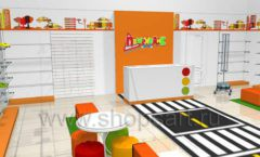 Дизайн интерьера детского магазина Пешеходик коллекция КАРАМЕЛЬ Дизайн 09