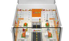 Дизайн интерьера детского магазина Пешеходик коллекция КАРАМЕЛЬ Дизайн 11