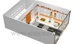 Дизайн интерьера детского магазина Пешеходик коллекция КАРАМЕЛЬ Дизайн 12