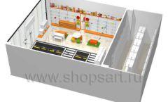 Дизайн интерьера детского магазина Пешеходик коллекция КАРАМЕЛЬ Дизайн 13