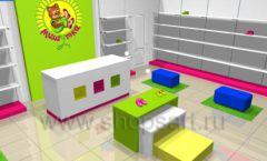 Дизайн интерьера детского магазина Мишутка коллекция КАРАМЕЛЬ Дизайн 1