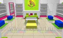 Дизайн интерьера детского магазина Мишутка коллекция КАРАМЕЛЬ Дизайн 2