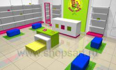 Дизайн интерьера детского магазина Мишутка коллекция КАРАМЕЛЬ Дизайн 3