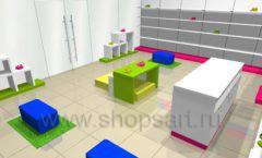 Дизайн интерьера детского магазина Мишутка коллекция КАРАМЕЛЬ Дизайн 4