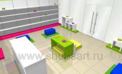 Дизайн интерьера детского магазина Мишутка коллекция КАРАМЕЛЬ Дизайн 5