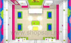 Дизайн интерьера детского магазина Мишутка коллекция КАРАМЕЛЬ Дизайн 6