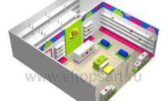 Дизайн интерьера детского магазина Мишутка коллекция КАРАМЕЛЬ Дизайн 7