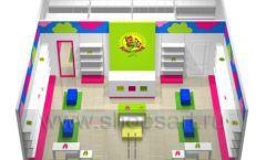 Дизайн интерьера детского магазина Мишутка коллекция КАРАМЕЛЬ Дизайн 8