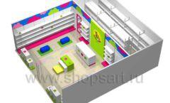 Дизайн интерьера детского магазина Мишутка коллекция КАРАМЕЛЬ Дизайн 9