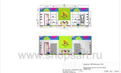Дизайн проект детского магазина Мишутка Самара торговое оборудование КАРАМЕЛЬ Лист 12