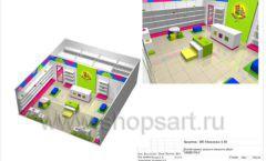 Дизайн проект детского магазина Мишутка Самара торговое оборудование КАРАМЕЛЬ Лист 20