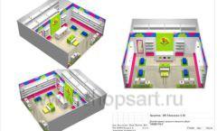 Дизайн проект детского магазина Мишутка Самара торговое оборудование КАРАМЕЛЬ Лист 21