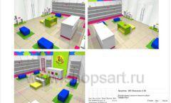 Дизайн проект детского магазина Мишутка Самара торговое оборудование КАРАМЕЛЬ Лист 22