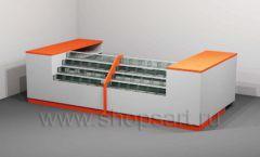 Стол для двух касс торговое оборудование КАССОВЫЕ СТОЛЫ и СТОЙКИ РЕСЕПШН