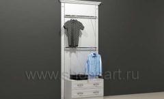 Стеллаж для магазина одежды торговый пристенный с кронштейнами и накопителем торговое оборудование БЕЛАЯ КЛАССИКА