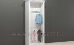Шкаф для магазина одежды торговый пристенный с навеской и подиумом торговое оборудование БЕЛАЯ КЛАССИКА