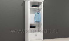 Шкаф для магазина одежды торговый пристенный с навеской полками и накопителем с дверками торговое оборудование БЕЛАЯ КЛАССИКА