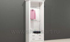 Шкаф для магазина одежды торговый пристенный с навеской полками и накопителем с ящиками торговое оборудование БЕЛАЯ КЛАССИКА