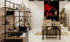 Дизайн интерьера магазина обуви 1 торговое оборудование СТИЛЬ ЛОФТ Дизайн 01
