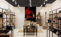Дизайн интерьера магазина обуви 1 торговое оборудование СТИЛЬ ЛОФТ Дизайн 02