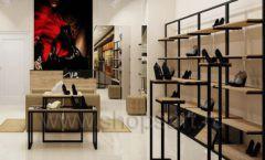 Дизайн интерьера магазина обуви 1 торговое оборудование СТИЛЬ ЛОФТ Дизайн 03