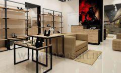 Дизайн интерьера магазина обуви 1 торговое оборудование СТИЛЬ ЛОФТ Дизайн 04