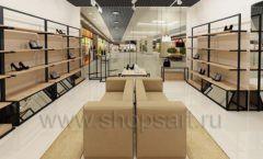 Дизайн интерьера магазина обуви 1 торговое оборудование СТИЛЬ ЛОФТ Дизайн 05