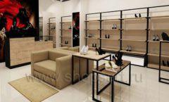 Дизайн интерьера магазина обуви 1 торговое оборудование СТИЛЬ ЛОФТ Дизайн 06