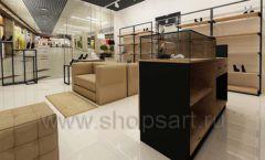 Дизайн интерьера магазина обуви 1 торговое оборудование СТИЛЬ ЛОФТ Дизайн 07