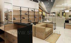 Дизайн интерьера магазина обуви 1 торговое оборудование СТИЛЬ ЛОФТ Дизайн 08