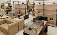 Дизайн интерьера магазина обуви 1 торговое оборудование СТИЛЬ ЛОФТ Дизайн 09