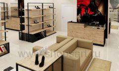 Дизайн интерьера магазина обуви 1 торговое оборудование СТИЛЬ ЛОФТ Дизайн 10