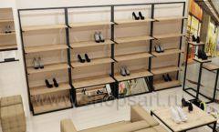 Дизайн интерьера магазина обуви 1 торговое оборудование СТИЛЬ ЛОФТ Дизайн 11